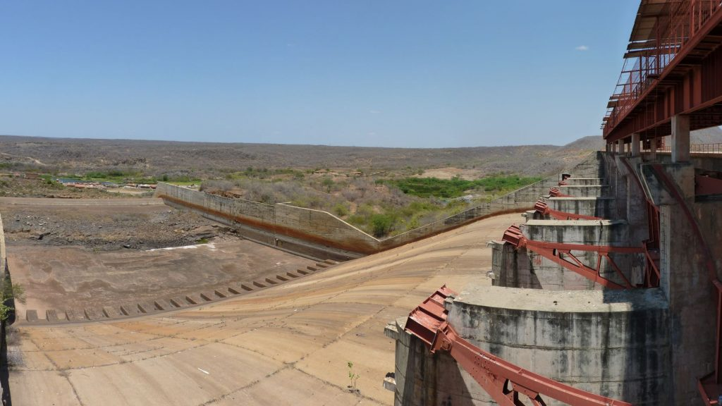 BR – The outflow at the Banabuiu dam