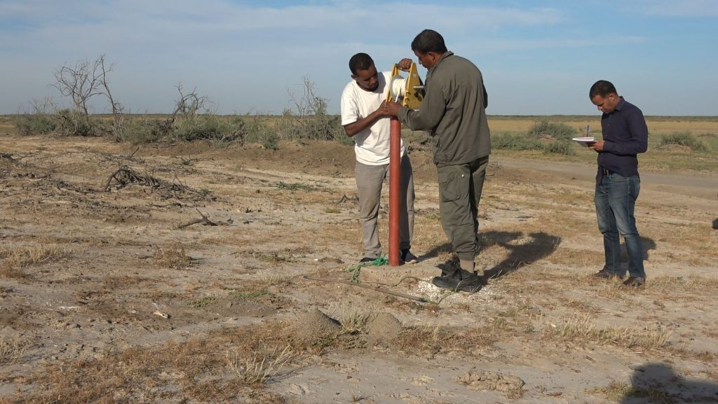 MR – Groundwater level measurement in the Diawling park