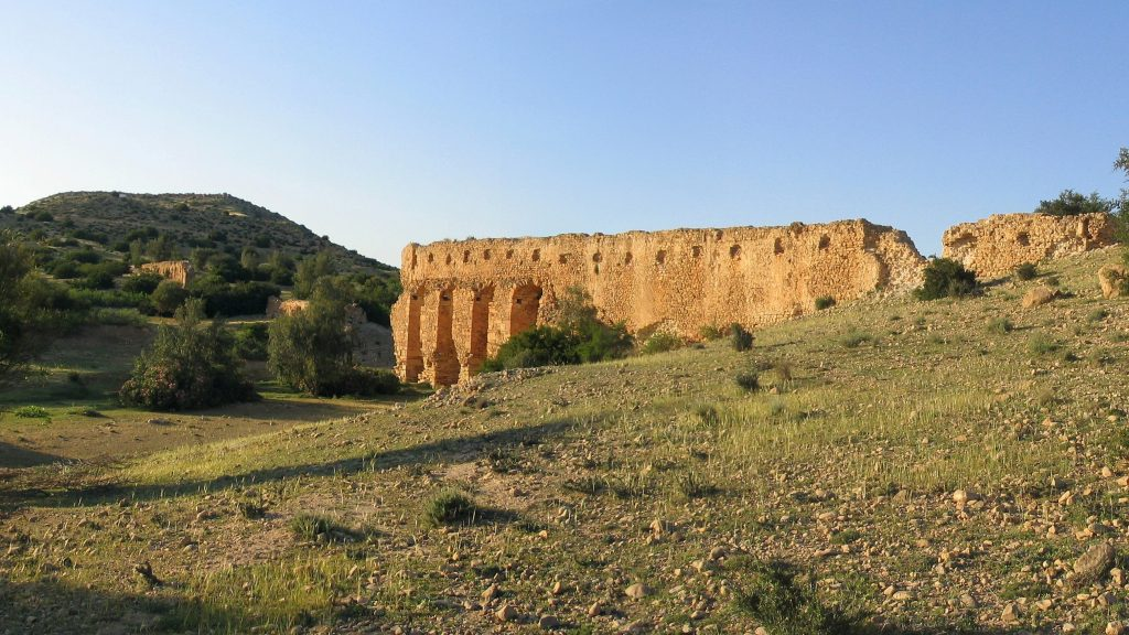 TN – Ruined Cherichira aqueduct IX X th cent. part of the water supply system to the Kairouan city
